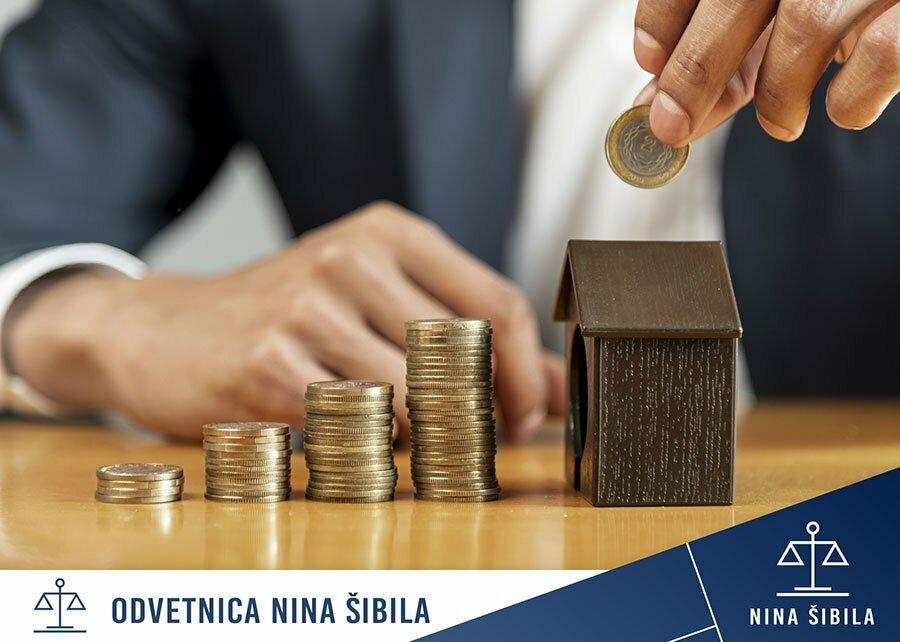 Hipoteka na nepremičnino stanovanje in hišo