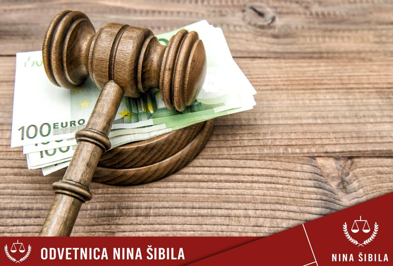cenik odvetniških storitev
